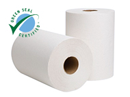 EcoSoft White Roll Towel