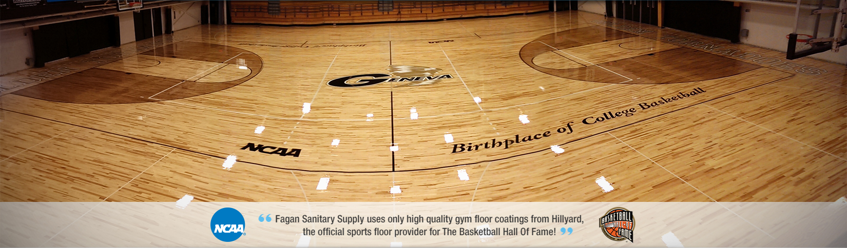 Fagan Sanitary Supply uses only high quality gym floor coatings from Hillyard.