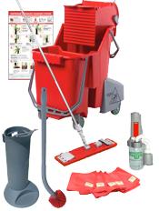 Unger Pro Restroom Cleaning Kit - Flat Mop